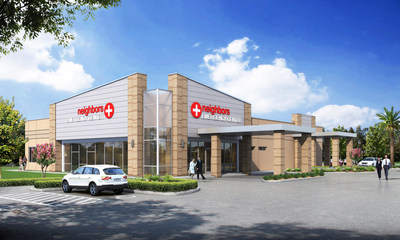Rendering of the Neighbors Emergency Center location in Texas City, Texas.