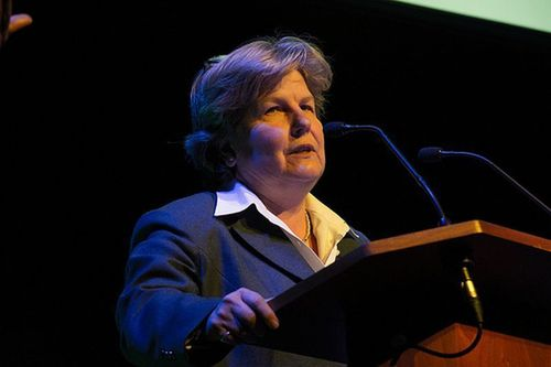 Sandi Toksvig at the Liberty Awards at London's Southbank Centre