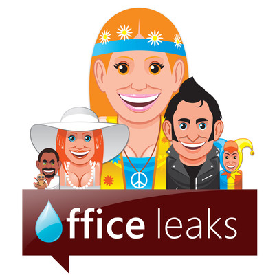 Office Leaks logo with website avatars.  (PRNewsFoto/OfficeLeaks.com)