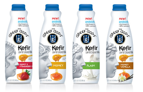 The Greek Gods(R) Brand Introduces Kefir.  (PRNewsFoto/The Hain Celestial Group, Inc.)