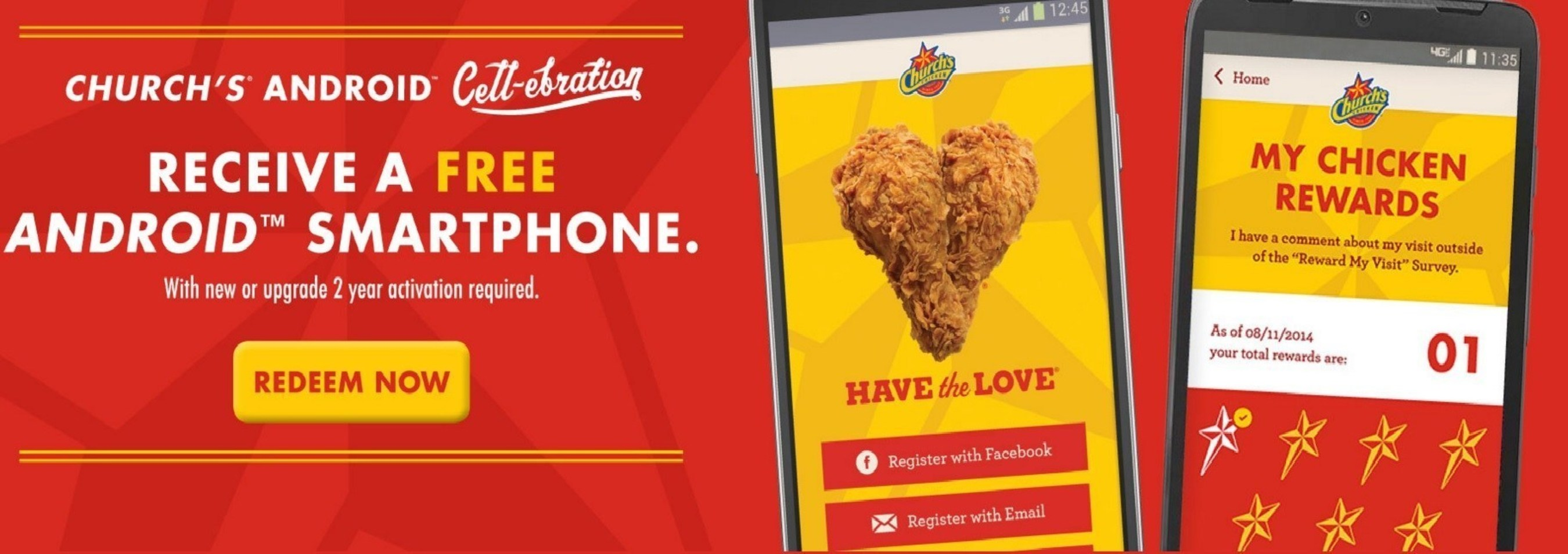 Church's Chicken® Helps Fans Stay Connected Over The Holidays With An Android™ Smartphone Offer
