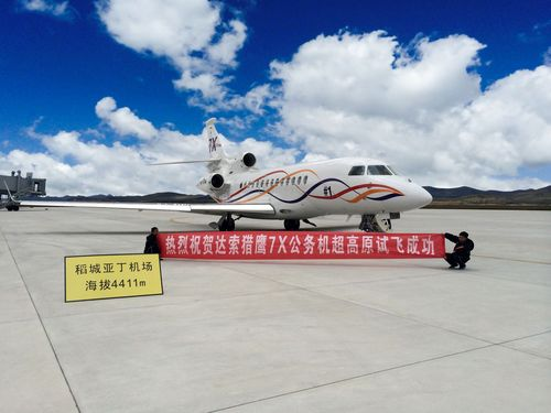 Falcon 7X to be Approved for Operation at Worldâeuro(TM)s Highest Airport (PRNewsFoto/Dassault Aviation)