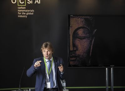 Mikhail Predtechensky, Chief Technology Officer, OCSiAl and inventor of a new synthesis process for single walled carbon nanotubes at the Institute of Materials, London (PRNewsFoto/OCSiAl)