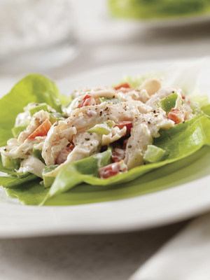Waldorf Chicken Salad in Lettuce Cups
