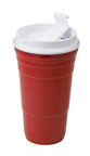 Creators of the reusable red cup now introduce the first Red Cup Insulated Tumbler for hot/cold beverages! (PRNewsFoto/Red Cup Living)