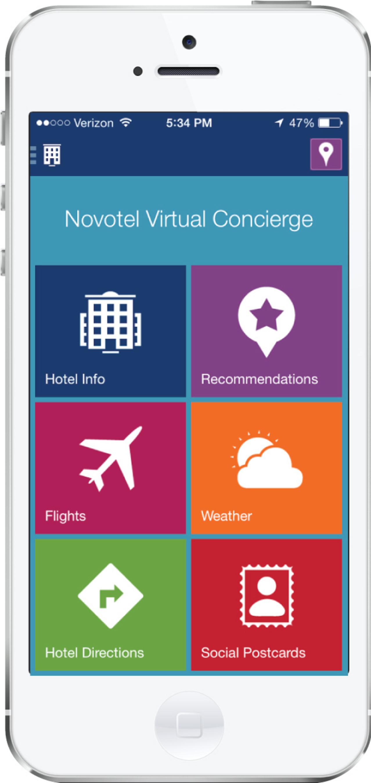 Novotel's Virtual Concierge mobile application (PRNewsFoto/Monscierge)