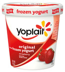 Yoplait Original Frozen Yogurt Pint in Strawberry.  (PRNewsFoto/Wells Enterprises, Inc.)