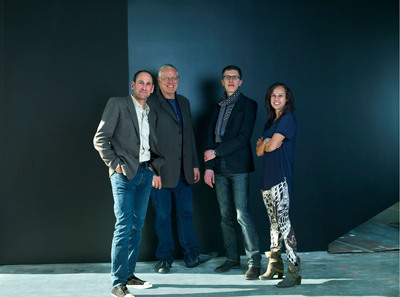 Co-founders/Co-chairmen Rich Silverstein and Jeff Goodby, Partner/Executive Creative Director, Christian Haas and Associate Partner/Managing Director, Nancy Reyes.  (PRNewsFoto/Goodby, Silverstein & Partners)