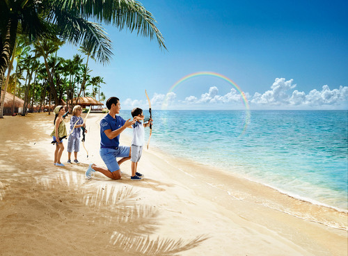 Club Med launches global branding campaign with 16 stunning visual metaphors.  (PRNewsFoto/Club Med)
