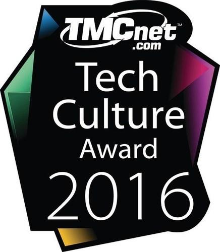 TMCnet Tech Culture award 2016 logo (PRNewsFoto/Mahindra Comviva)