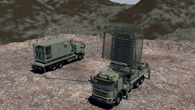 The Multi-Role Radar (TPS-77 MRR) is designed for ultra-low power consumption and is the most transportable version of Lockheed Martin's successful TPS-77 product line. This high-performing radar will be truck mounted for operation at unprepared sites and can be dismounted for use at fixed sites. Rendering courtesy Lockheed Martin.