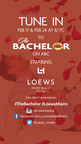 "Loews Miami Beach Hotel to be featured on ABC's ""The Bachelor,"" February 17th and 24th.  (PRNewsFoto/Loews Miami Beach Hotel)"