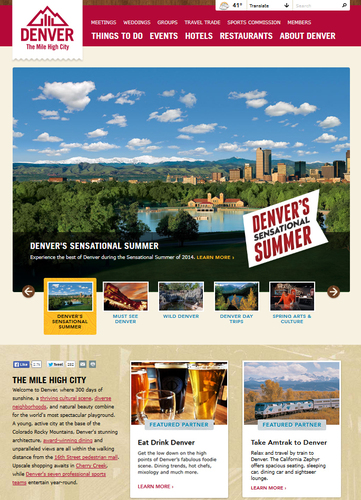 VISITDENVER.com's New Homepage  (PRNewsFoto/VISIT DENVER, The Convention &..)
