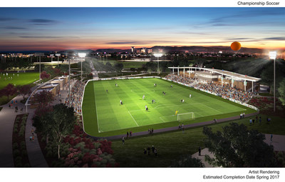 Artist rendering of Orange County Great Park Sports Park Championship Soccer Stadium