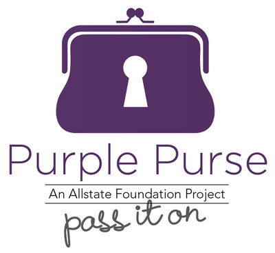As part of Domestic Violence Month in October, The Allstate Foundation joined forces with actress Rosario Dawson to fight domestic violence and get people talking about this important cause with the Purple Purse campaign.  In less than two weeks, more than 18,000 physical and virtual purses have been passed, triggering the donation goal of $175,000 to the YWCA for programs aimed at helping survivors of domestic violence. Due to the success of the campaign and the rate at which purses are being passed, The Allstate Foundation is pleased to announce the donation goal has been raised $250,000.  (PRNewsFoto/The Allstate Foundation)