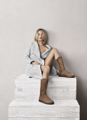 Model Carolyn Murphy in the Abree boot from the new Classic Luxe Collection by UGG