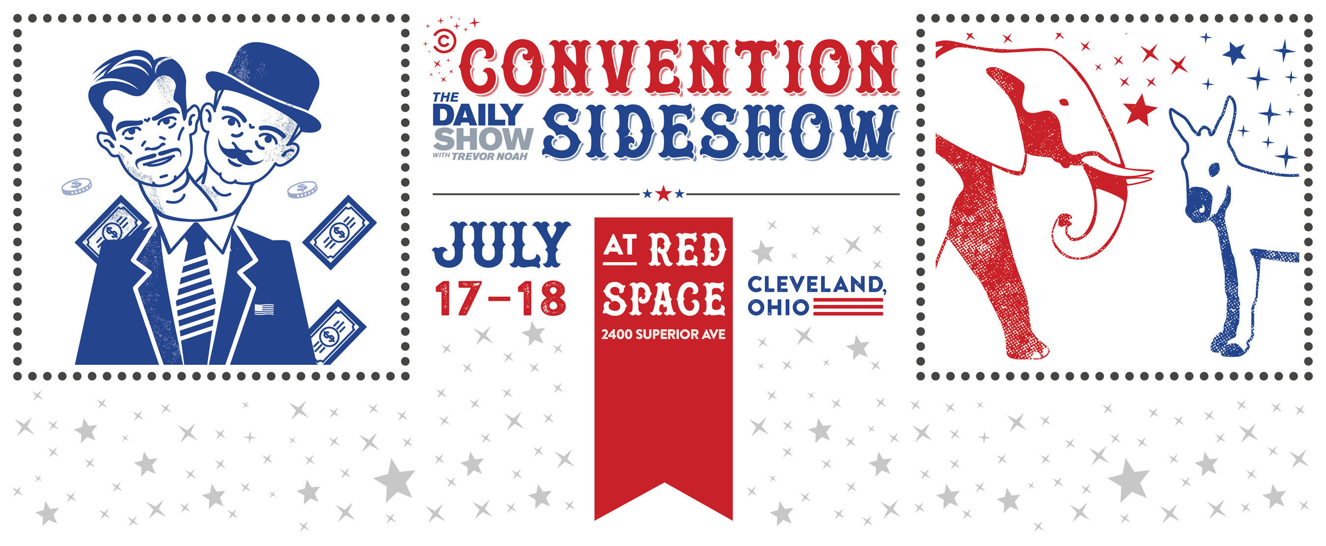 "Comedy Central's ""The Daily Show Convention Sideshow"" -- Exclusive press preview available on Sunday, July 17 from 11:00am-noon for media to experience and cover the event before it officially opens to the public at noon."