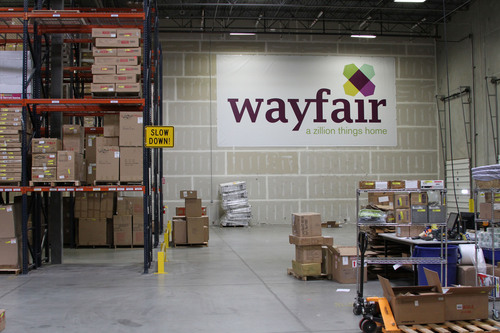 Wayfair.com warehouse in Ogden, Utah.  (PRNewsFoto/Wayfair.com)