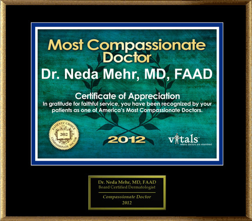 Patients Honor Dr. Neda Mehr for Compassion
