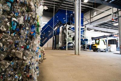 Bottles await a new life at Unifi's Repreve Bottle Processing Center in N.C.