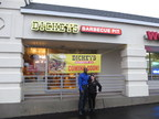 Patrick Fiddler and Joseline Garcia open the first Dickey's Barbecue Pit in New Jersey on Thursday. New fast casual barbecue option hosts three day grand opening where three guests win free barbecue for an entire year.
