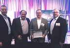 Encycle wins a Global Cleantech 100 Award, (Photo, L to R: Dean Sciorillo & Wally Hunter from EnerTech Capital, Bob Chiste of Encycle, and Tony Van Bommel of BDC Venture Capital)