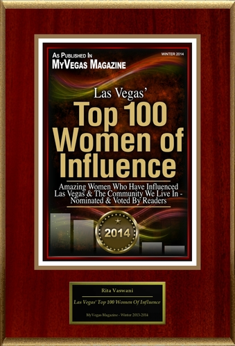"Rita Vaswani Selected For ""Las Vegas' Top 100 Women Of Influence"" (PRNewsFoto/American Registry)"