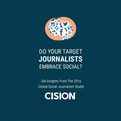 Cision Social Journalism Study 2016