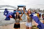 26/1/2014. Australia Day Sydney. Fans celebrate Australia Day on Sydney Harbour with local artists on floating stage. Credit: James Horan /Destination NSW.(PRNewsFoto/Destination NSW) (PRNewsFoto/DESTINATION NSW)