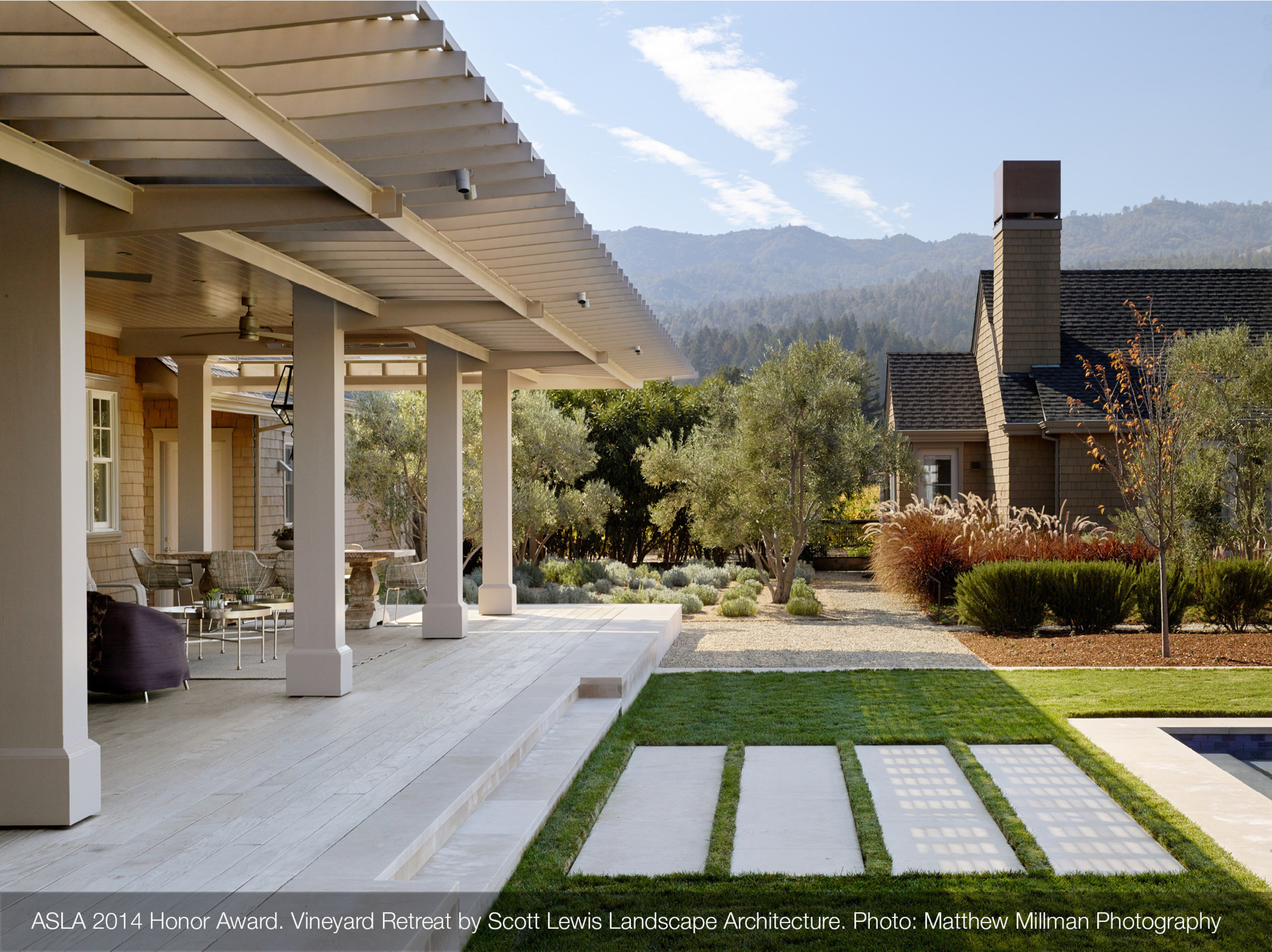 Sustainable and low-maintenance design are the top trends for residential landscape projects, according to the latest survey of the American Society of Landscape Architects.