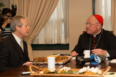 Daniel Reingold, President and CEO of RiverSpring Health featuring the Hebrew Home at Riverdale meets with Cardinal Timothy Dolan about the Weinberg Center for Elder Abuse Prevention and how the Archdiocese can partner with the Center to educate clergy throughout New York City about the signs and signals of elder abuse