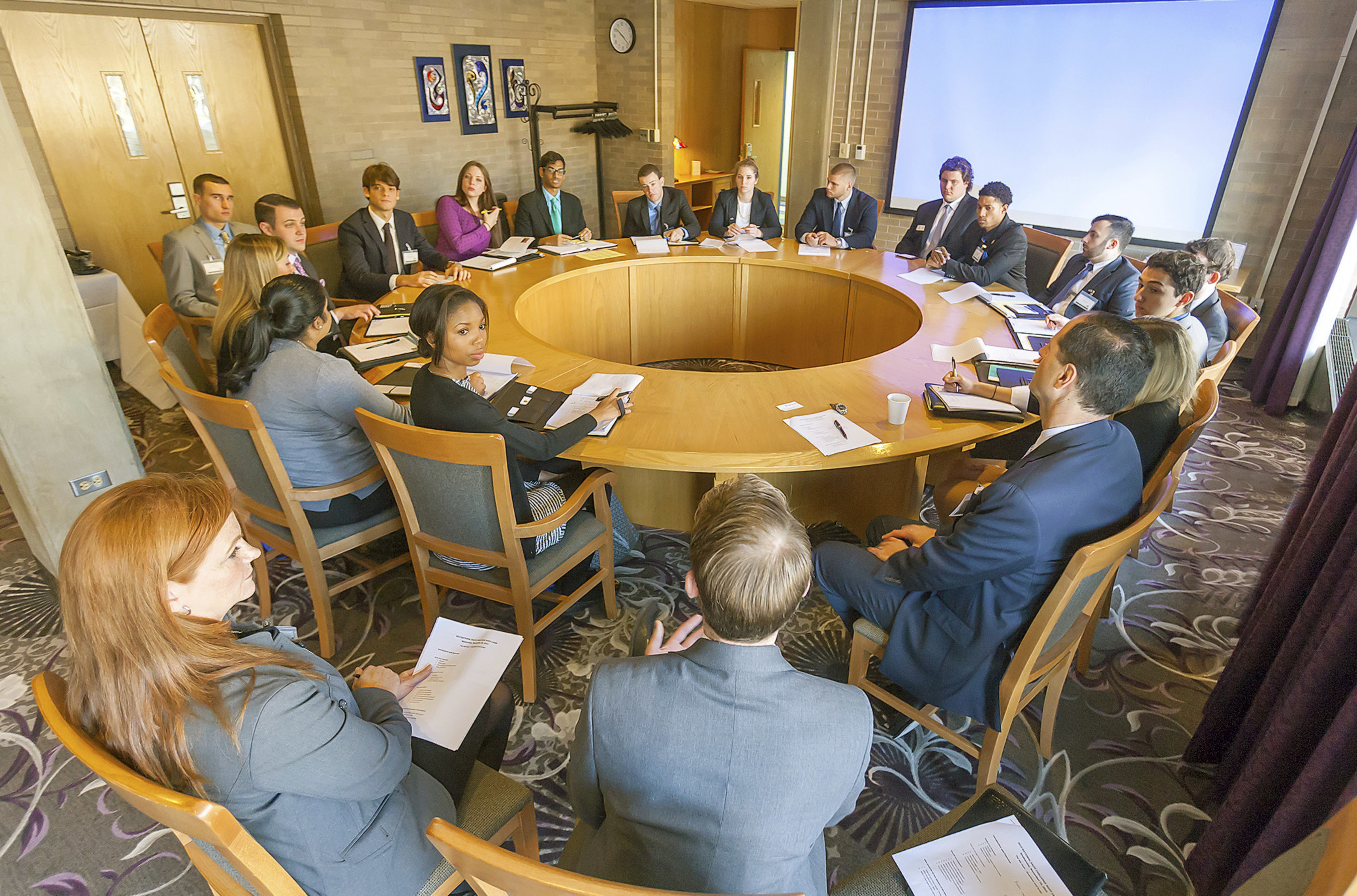 William Paterson University's Cotsakos College of Business provides sales students from across the country the opportunity to directly interact with industry leaders during the National Sales Challenge at the University's Russ Berrie Institute for Professional Sales in Wayne, N.J.