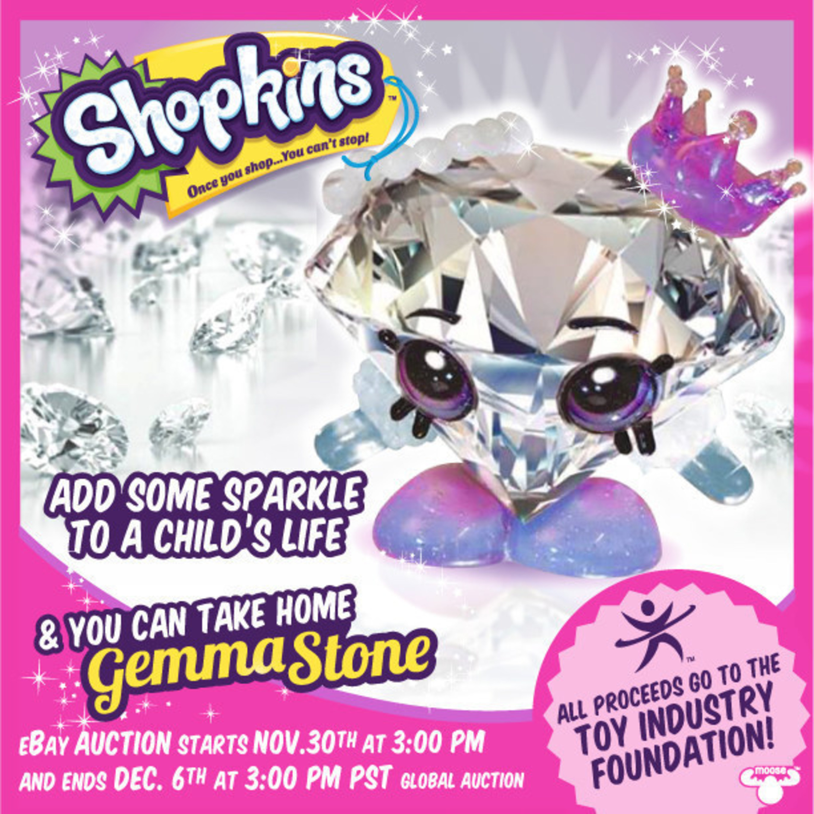 Moose Toys Will Auction Off Shopkins™ Gemma Stone To Benefit The Toy Industry Foundation