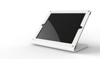 Heckler Design WindFall C, in sky white, is a secure iPad stand for point of sale compatible with virtually every card reader.  (PRNewsFoto/Heckler Design)