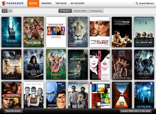 Fandango Comes to iPad with New Moviegoing App, Debuting the Ticket-Trending Feature, 'The Pulse'