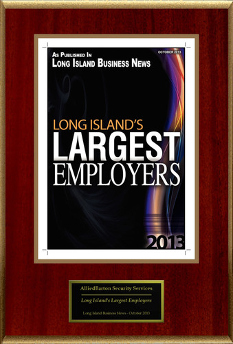 "AlliedBarton Security Services Selected For ""Long Island's Largest Employers"".  (PRNewsFoto/AlliedBarton Security Services)"