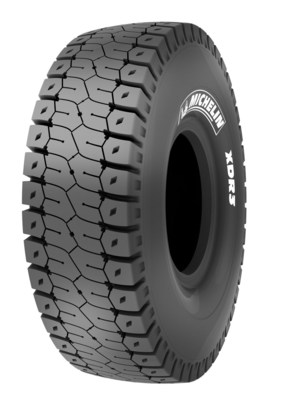 The MICHELIN(R) XDR3(R) MB4 surface mine-haul tire. In development testing for the last six years, the new tire -- developed for 400-plus-ton trucks -- is designed with new compounds and a revolutionary new tread pattern that provides exceptional tire life, increased by a minimum of 10 percent without any compromise on TKPH.