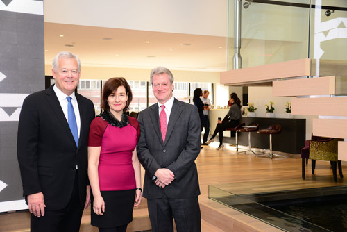 Weber Shandwick was named to Advertising Age's 2014 Agency A-List. From (L-R): Chairman Jack Leslie, ...