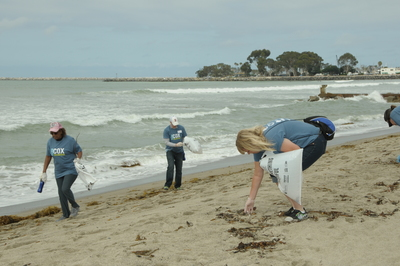 More than 200 employees from Cox Enterprises volunteered for a shore cleanup at Doheny State Beach in Dana Point, Calif. The cleanup took place in partnership with Ocean Conservancy and removed nearly 650 pounds of trash.