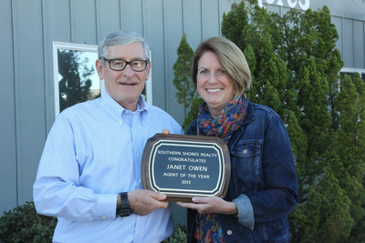 2013 Agent of the Year. (PRNewsFoto/Southern Shores Realty) (PRNewsFoto/SOUTHERN SHORES REALTY)