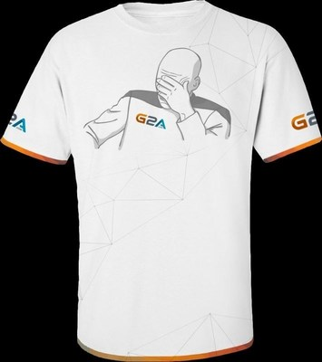 This is the limited edition T-shirt designed for G2A e-sports fans (PRNewsFoto/G2A.com) (PRNewsFoto/G2A.com)