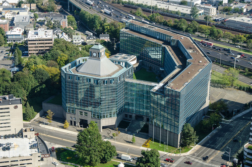 """BLT Financial Centre, an iconic six-story Class """"A"""" office building located at 695 East Main Street in Stamford, CT.'s Central Business District. (PRNewsFoto/Building and Land Technology (BLT)) (PRNewsFoto/BUILDING AND LAND TECHNOLOGY...)"""