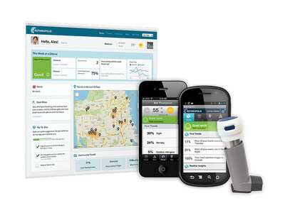 Asthmapolis mobile health solution recognized with Horizon Award in 2013 Triple Tree iAwards.  (PRNewsFoto/Asthmapolis)