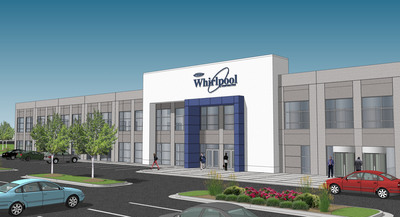 Concept rendering of new $120M Whirlpool Corporation manufacturing site in Cleveland, Tenn. (PRNewsFoto/Whirlpool Corporation)