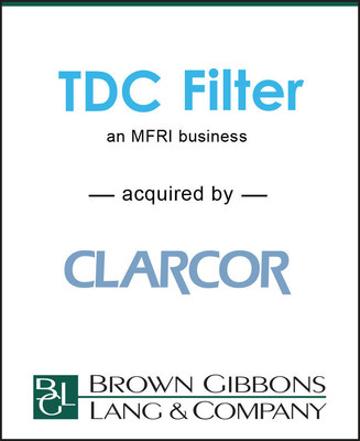 BGL is pleased to announce the simultaneous sales of the United States, European, and Middle East filtration businesses of MFRI, Inc. to CLARCOR Inc. and Hengst Holdings GmbH. The businesses manufacture pleated air filter bags and dust collection cartridges for a broad range of industrial manufacturing and process end markets to meet and achieve environmental and workplace safety requirements. The businesses also manufacture gas turbine air inlet filters that protect gas turbine blades and equipment.