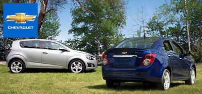 The 2014 Chevy Sonic brings a pair of body styles to the table in an effort to appeal to as many people as possible. Customers can choose between a sedan or hatchback.  (PRNewsFoto/Cavender Chevrolet)