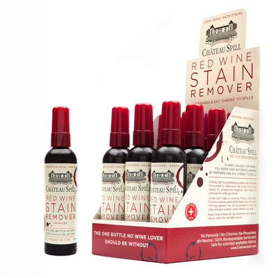 love wine hate stains give a holiday cheers to chateau spill red wine stain remover. Black Bedroom Furniture Sets. Home Design Ideas