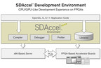 The SDAccel(TM) Development Environment includes an architecturally optimizing compiler, libraries, a debugger, and a profiler and provides a CPU/GPU-like programming experience.