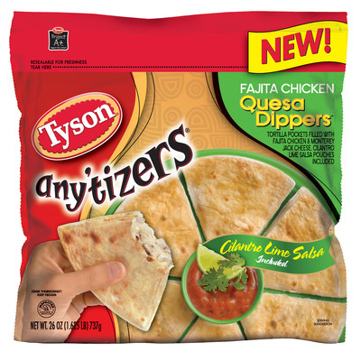 Warm Up Winter Snack Time with New Tyson(R) Any'tizers(R) QuesaDippers(TM).  (PRNewsFoto/Tyson Foods, Inc.)