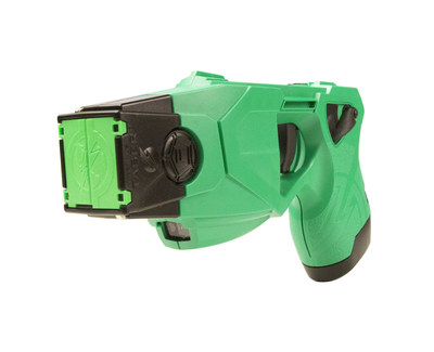 The Los Angeles Police Department's new green-colored TASER(R) X26P(TM) Smart Weapon. The use of TASER Conducted Electrical Weapons (CEWs) and Smart Weapons have saved more than 136,000 lives from potential death or serious injury.  Photo courtesy of TASER International, Scottsdale, AZ.
